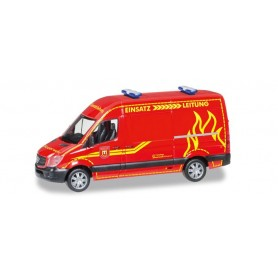 "Herpa 093491 Mercedes-Benz sprinter high roof ""Feuerwehr Wilsdruff"""