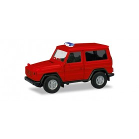 Herpa 013086 Herpa MiniKit: Mercedes-Benz G-Modell, red (unprinted / Warning light bar enclosed)
