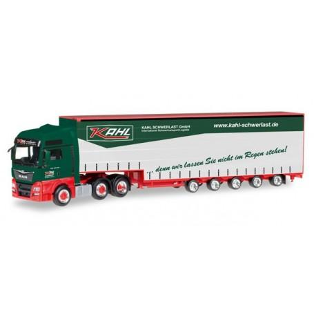 "Herpa 306294 MAN TGX XXL Euro 6 6x2 Meusburger semitrailer ""Kahl Schwerlast"""