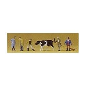 Preiser 79080 Bönder med boskap, 6 st