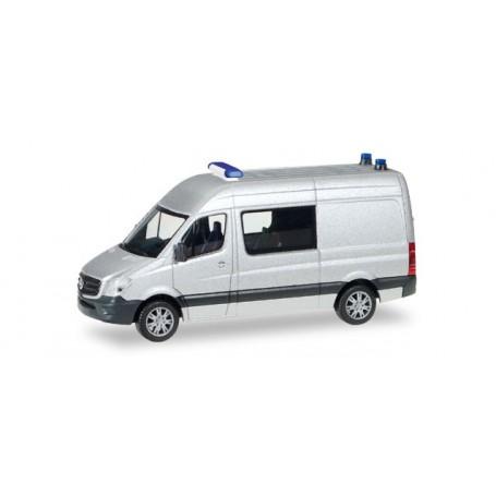 Herpa 012959 Herpa Minikit Mercedes-Benz sprinter semi-bus, unprinted, silver
