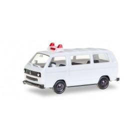 Herpa 012966 Herpa Minikit VW T3 Bus, unbedruckt / Minikit VW T3, unprinted, white
