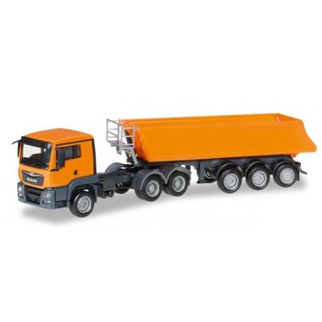 Herpa 306478 MAN TGS L Euro 6 dumper semitrailer
