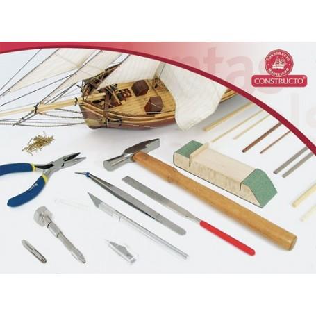 Constructo 80450 Verktygssats för träbyggare, 7 olika verktyg