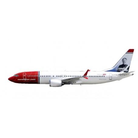 """Herpa 611817 Flygplan Norwegian Air Shuttle Boeing 737 MAX 8 - EI-FYA """"Sir Freddie Laker"""""""