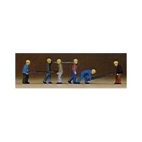 Preiser 79034 Arbetare med slipers, 6 st