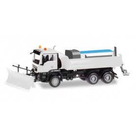 Herpa 013079 Herpa MiniKit: MAN TGS M 6x6 winter services, white