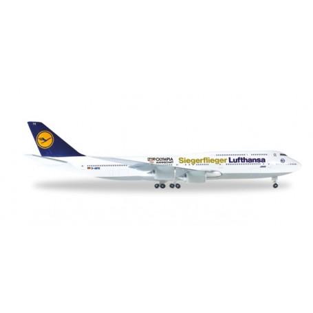 """Herpa 530026 Flygplan Lufthansa Boeing 747-8 Intercontinental """"Siegerflieger Olympia Rio 2016"""""""