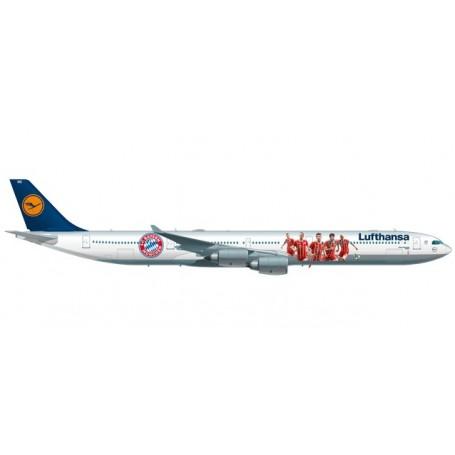 "Herpa 530897 Flygplan Lufthansa Airbus A340-600 ""FC Bayern Audi Summer Tour China 2017"""