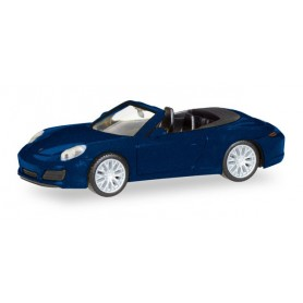 Herpa 038898 Porsche 911 Carrera 4S Cabrio, night blue metallic
