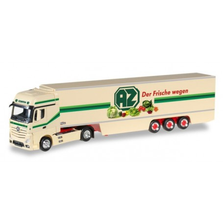 "Herpa 306546 Mercedes-Benz Actros Gigaspace refrigerated box semitrailer ""AZ Kempen"""