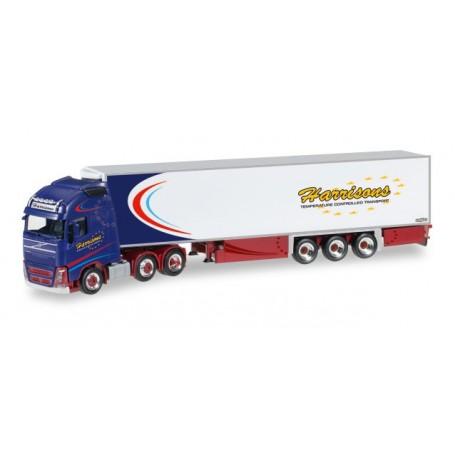 "Herpa 306157 Volvo FH Gl. XL 6x2 refrigerated box semitrailer ""Harrisons"" (GB)"