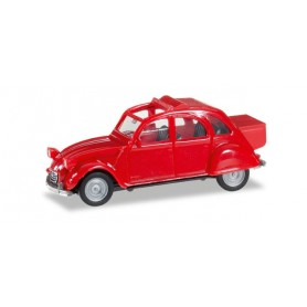 Herpa 027632.2 Citroen 2 CV with Queue, red