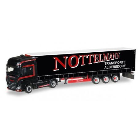"Herpa 306836 DAF XF SSC Euro 6 curtain canvas semitrailer ""Nottelmann"""