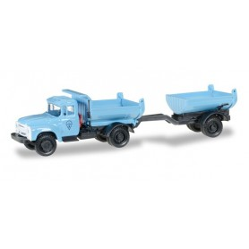 Herpa 745758 ZIL 130 Truck-mounted tipper trailer, blue