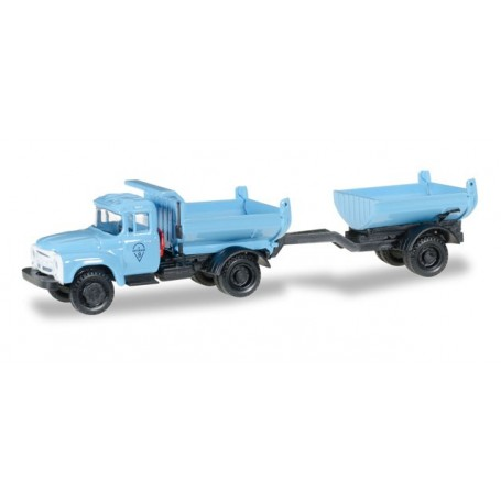 Herpa 745758 ZIL 130 Truck-mounted tipper trailer, blue