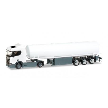 Herpa 013000 Minikit: Scania CR 20 ND fuel tank semitrailer, unprinted