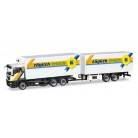 "Herpa 308557 MAN TGS M refrigerated box trailer ""EDEKA"""