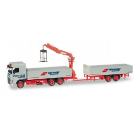"Herpa 307819 DAF XF SC pick-up trailer with crane ""Spedition Wormser"""