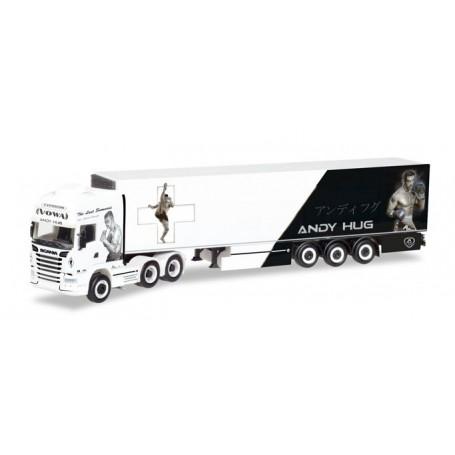 """Herpa 308519 Scania R TL 6x2 refrigerated box semitrailer """"Von Wartburg"""" (CH)"""