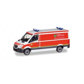 "Herpa 093354 Mercedes-Benz Sprinter box ""Katastrophenschutz Freistaat Sachsen"""