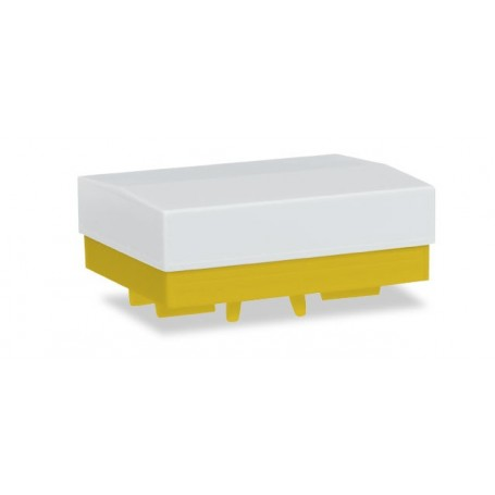 Herpa 051828.4 Heavy duty platform with canvas (2 pieces), yellow