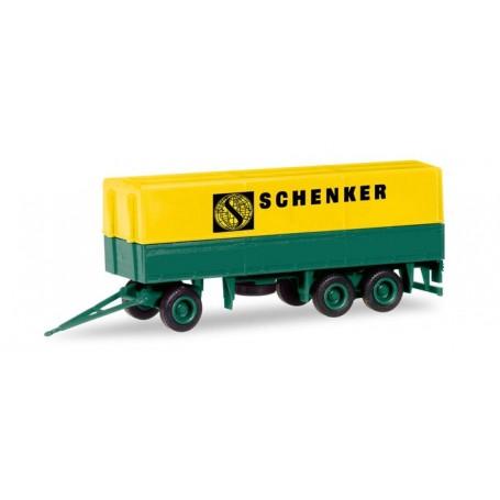 """Herpa 013338 Herpa MiniKit: canvas trailer 3-axle """"Schenker"""""""
