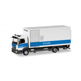 "Herpa 093538 Mercedes-Benz Atego box truck with liftgate ""Polizei Hamburg Entschärfer"""