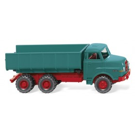 Wiking 64502 Dump truck (MAN) - blue/red, 1969-94