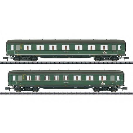 "Trix 15802 Vagnsset med 2 personvagnar typ DRB ""Berlin - Hamburg"""