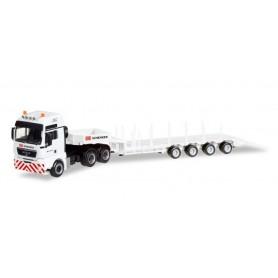 """Herpa 308038 MAN TGX XXL 6x4 Euro 5 low boy semitrailer """"DB Schenker"""""""