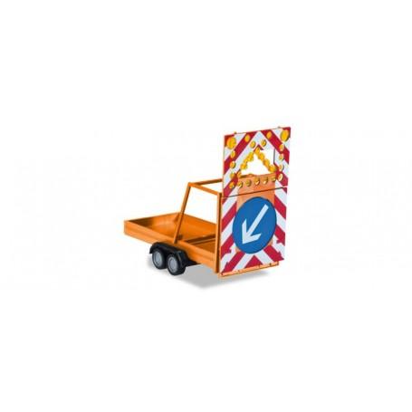 Herpa 052368.2 Safety traffic Trailer, communal orange
