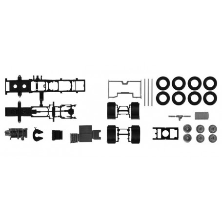 Herpa 084802 Chassis Volvo FH 6x2 with chassis cladding Content: 2 pcs.