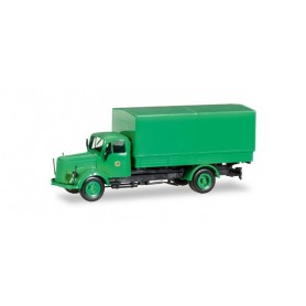 "Herpa 308397 Mercedes-Benz L 311 canvas trailer ""Polizei Hamburg Toilettenwagen"""