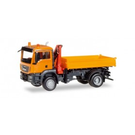 Herpa 308267 MAN TGS M Euro 6c 3-way discharge skip with crane