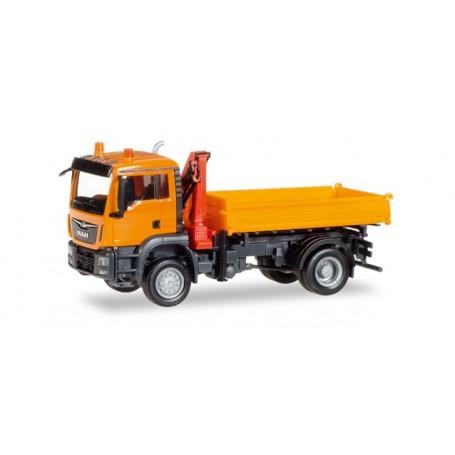 Herpa 308267 MAN TGS M Euro 6c 3-way discharge skip with crane