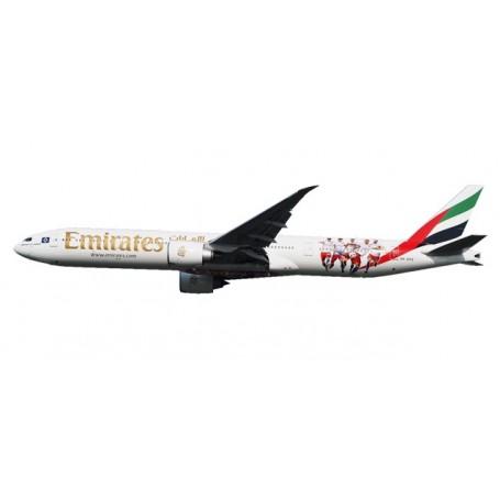 "Herpa 611756 Flygplan Emirates Boeing 777-300ER ""Hamburger SV"" - A6-EPS"