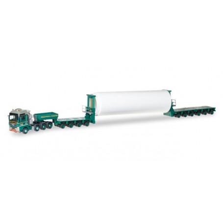 "Herpa 306645 MAN TGX XXL 680 Euro 5 with part of wind energy towel ""Bolk Almelo"" (NL)"