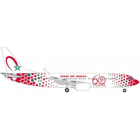 "Herpa 531153 Flygplan Royal Air Maroc Boeing 737-800 ""60th anniversary"" - CN-RGV"