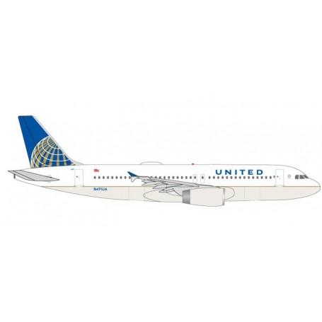 Herpa 531252 Flygplan United Airlines Airbus A320 - N491UA