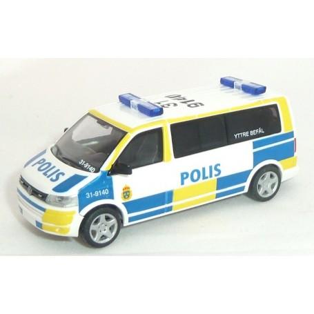 "Rietze 53619A VW T5 Bus GP LR ""Polis"" ""Yttre Befäl 31-9140"""
