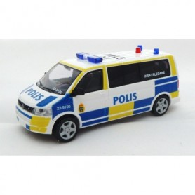 "Rietze 53619B VW T5 Bus GP LR ""Polis"" ""Insatsledare 23-9100"""