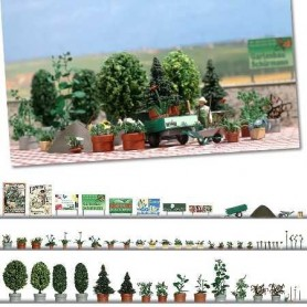 Busch 1211 Blom och träd planterings-set