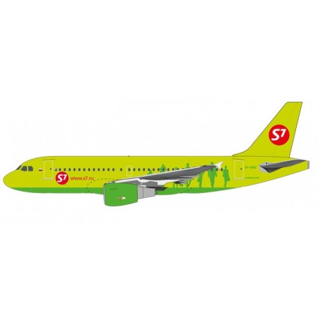 Herpa 611909 Flygplan S7 Airlines Airbus A319 - VP-BHQ, snap-fit