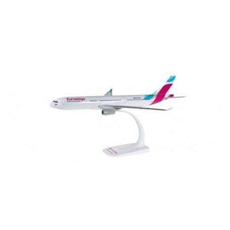 Herpa 611008.1 Flygplan Eurowings Airbus A330-200 - D-AXGB, snap-fit