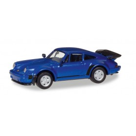 Herpa 030601.2 Porsche 911 Turbo, blue metallic