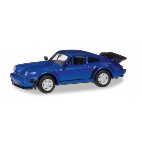 Herpa 030601.2 Porsche 911 Turbo, blue metallic
