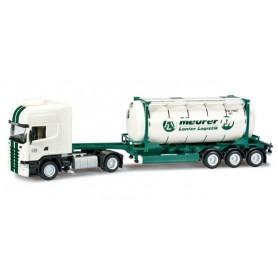 "Herpa 302401 Scania R TL swapcontainer semitrailer ""Lanfer"""
