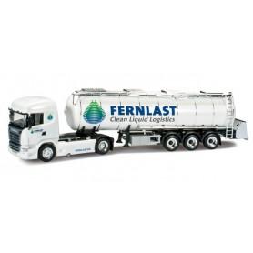 """Herpa 302456 Scania R HL tank semitrailer for goods """"Fernlast"""""""