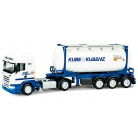 """Herpa 302432 Scania R swapcontainer semitrailer """"Kube & Kubenz"""""""